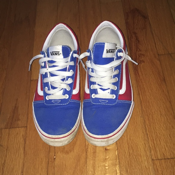 Vans Shoes   Blue Red Vans With